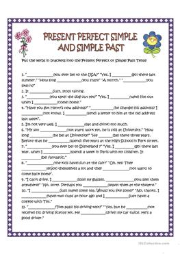 39 FREE ESL Present perfect or past simple tense worksheets for ...