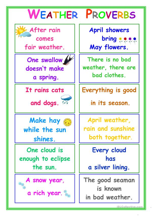 PROVERBS about Weather