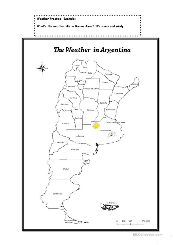 The weather in Argentina.