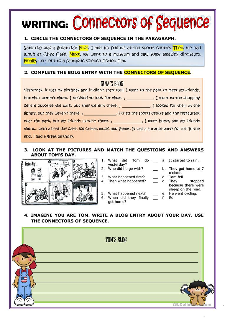 worksheet First Then Next Finally Worksheet 32 free esl sequence worksheets writing connectors of by rmartinandres how to use first then next and finally