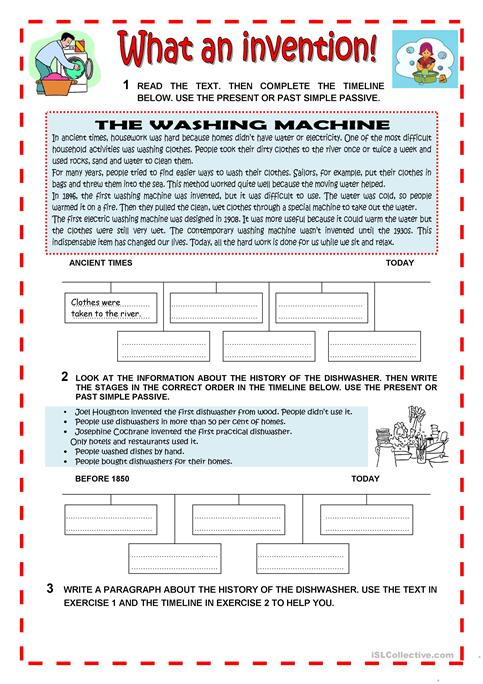 What An Invention Worksheet Free Esl Printable Worksheets Made By