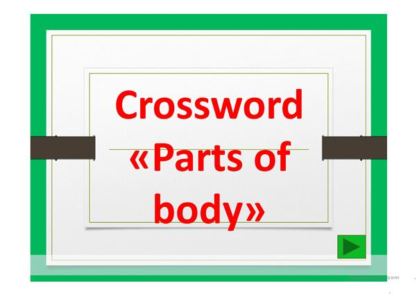 Crossword Parts of body