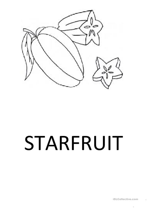 Exotic fruit flashcards