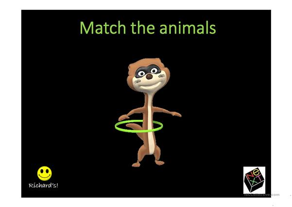 match the animals game