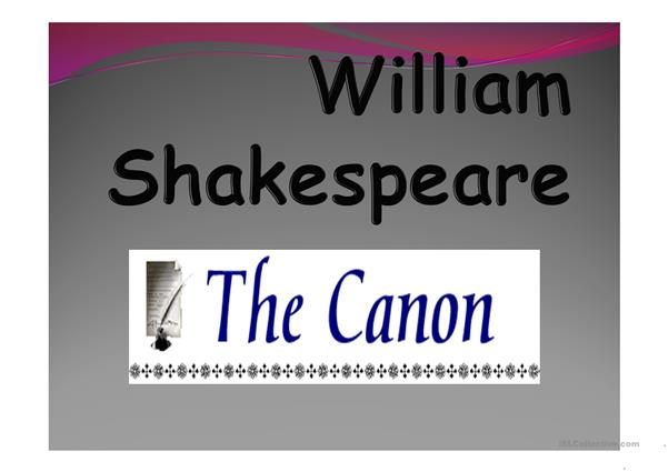 Shakespeare Cannon and Style
