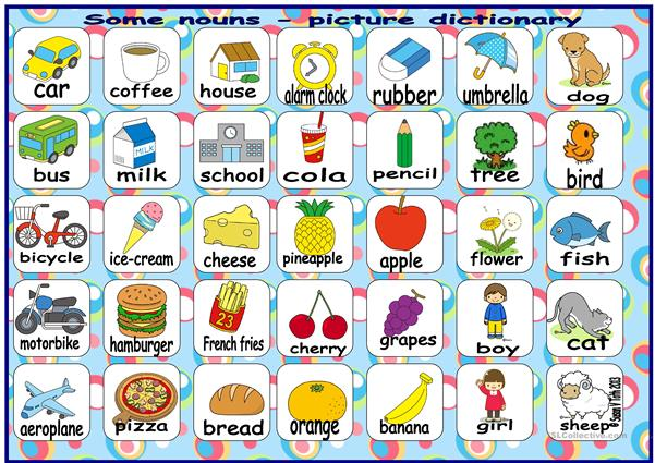 Some nouns - picture dictionary