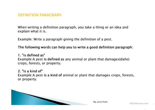The Basic Parts of a Paragraph