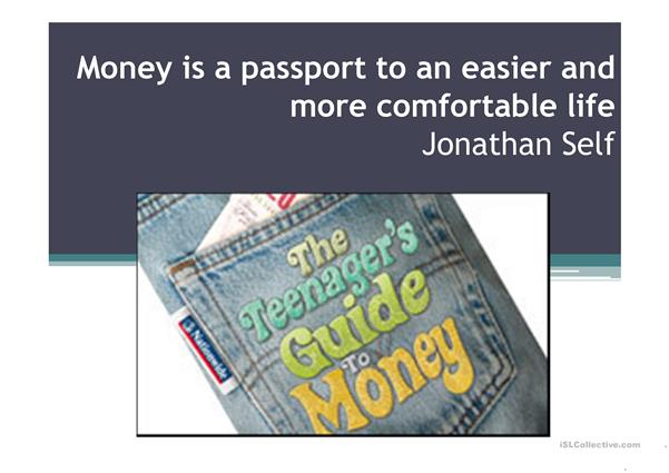 THE TEENAGER´S GUIDE TO MONEY