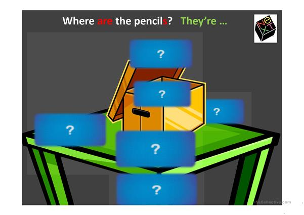 Where's the pencil?  ppt game