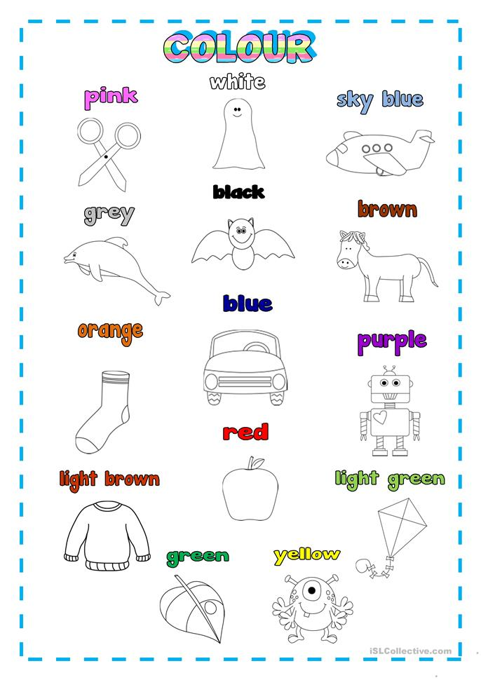 Pictures French Colors Worksheet - pigmu