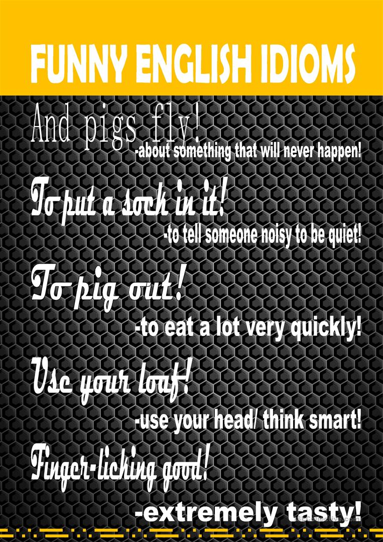 Poster:Funny Idioms - English ESL Worksheets