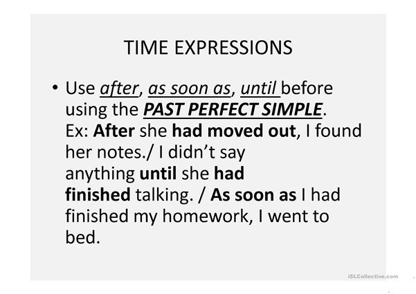 Past Perfect vs. Past Simple