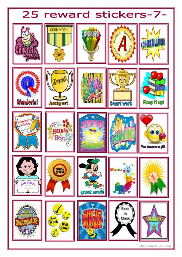 reward stickers for beginners -1-