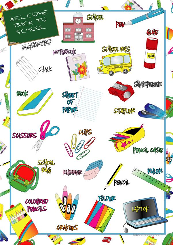 School Items POSTER