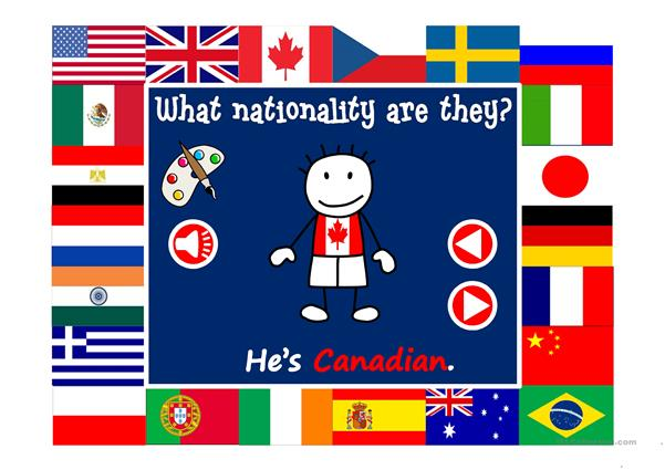 What nationality are they? - vocabulary with sound