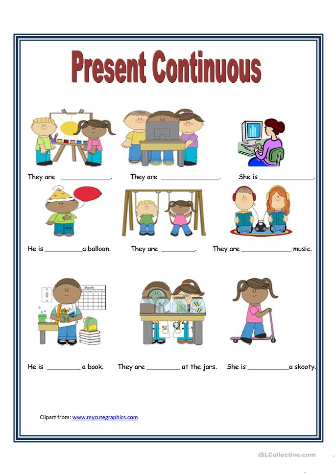 Present Continuous tense worksheet - Free ESL printable worksheets ...