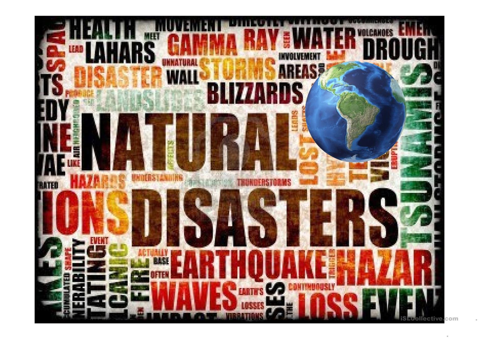 Natural disaster powerpoint.