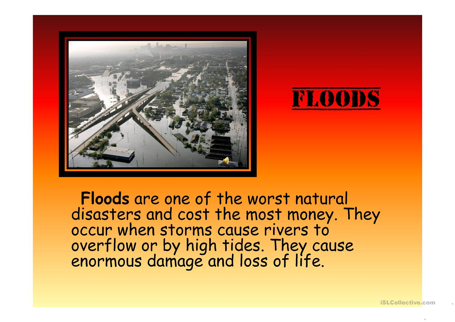 Presentation of natural disasters ppt download.