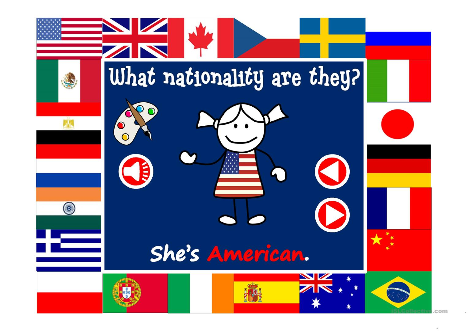 What nationality are they? - vocabulary with sound - English ESL ...