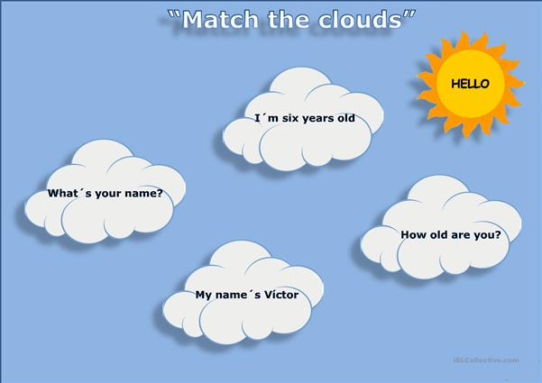 Match the clouds and stars