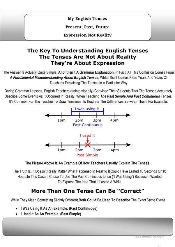 Several English Forms And Past And Present Tense