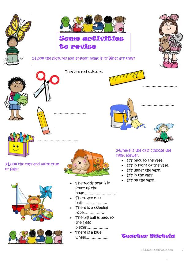 Some activities to revise- 1
