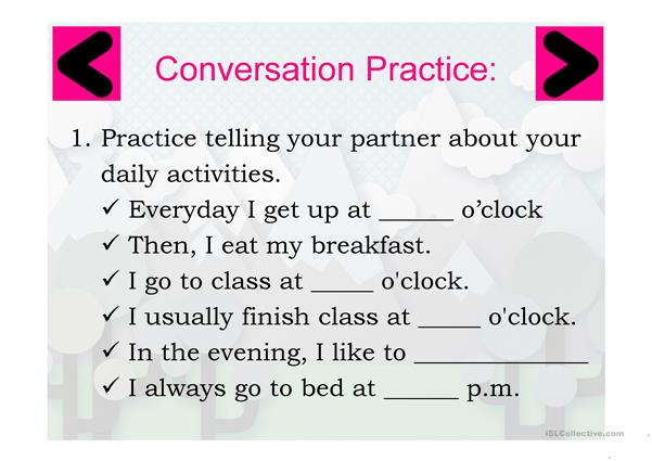 Telling Daily Activity