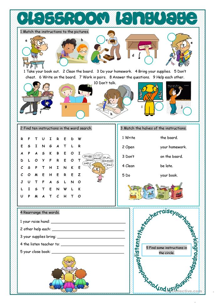 classroom activities grammar worksheets