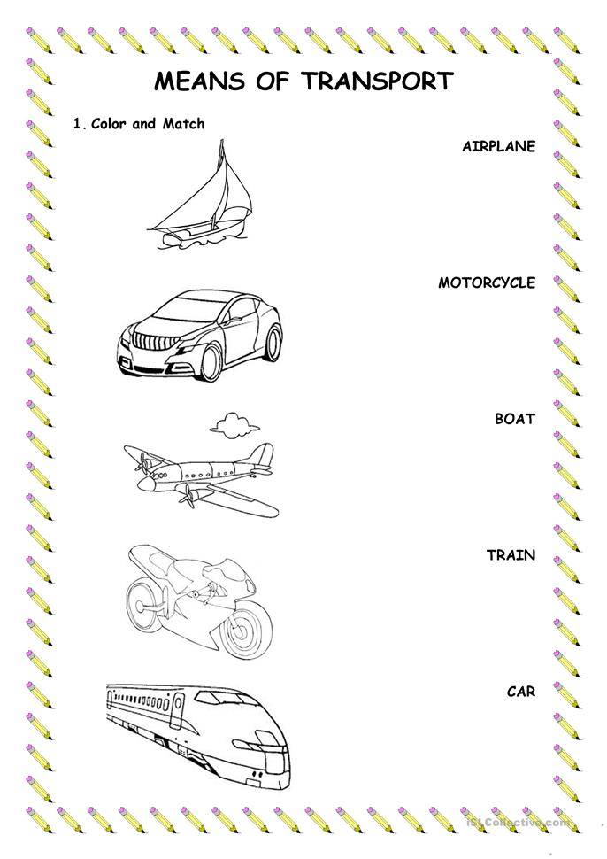 ... transport worksheet - Free ESL printable worksheets made by teachers