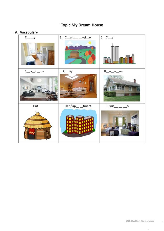 my dream house essay for kids Essay writing guide in short i can say that, the interior of my dream house is like my spiritual world so i'd decorate it in such a way that all the rooms.