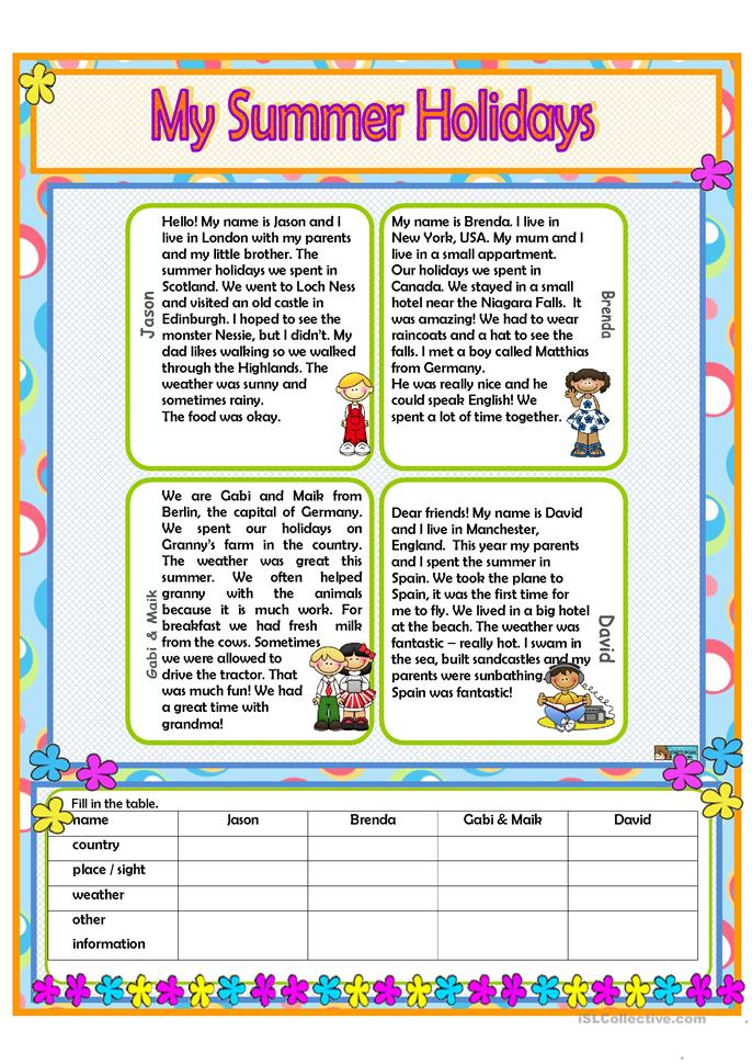 my summer holidays worksheet free esl printable worksheets made by teachers. Black Bedroom Furniture Sets. Home Design Ideas