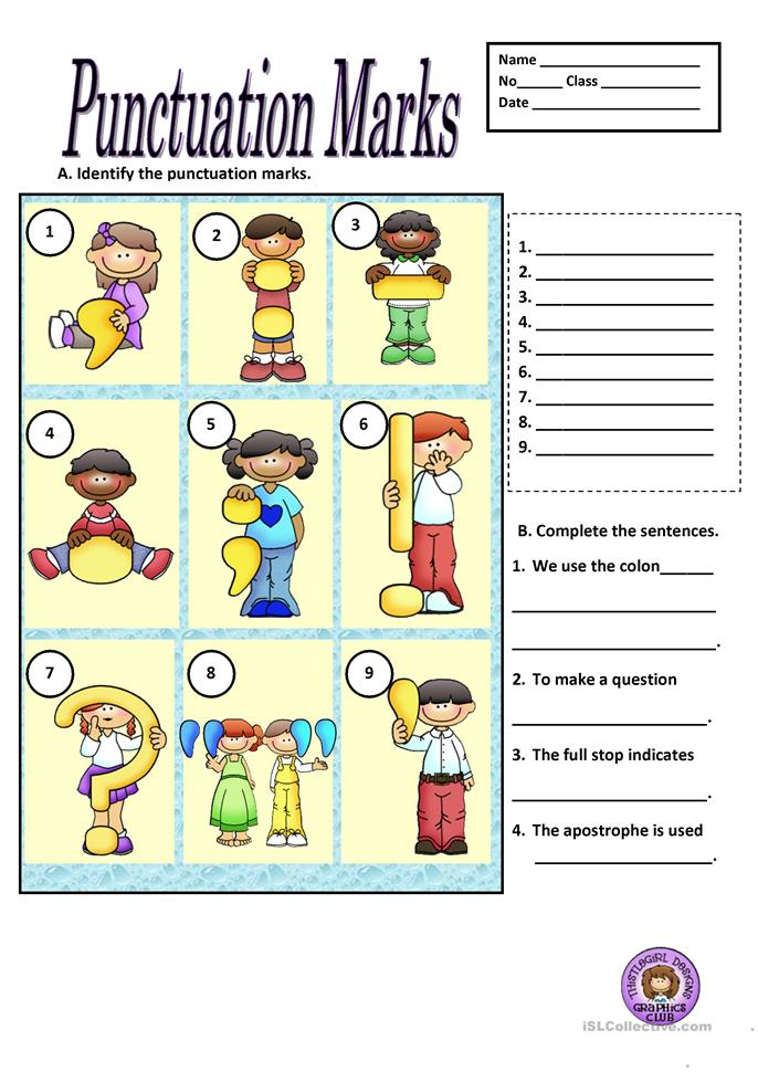 punctuation marks worksheet free esl printable worksheets made by teachers. Black Bedroom Furniture Sets. Home Design Ideas