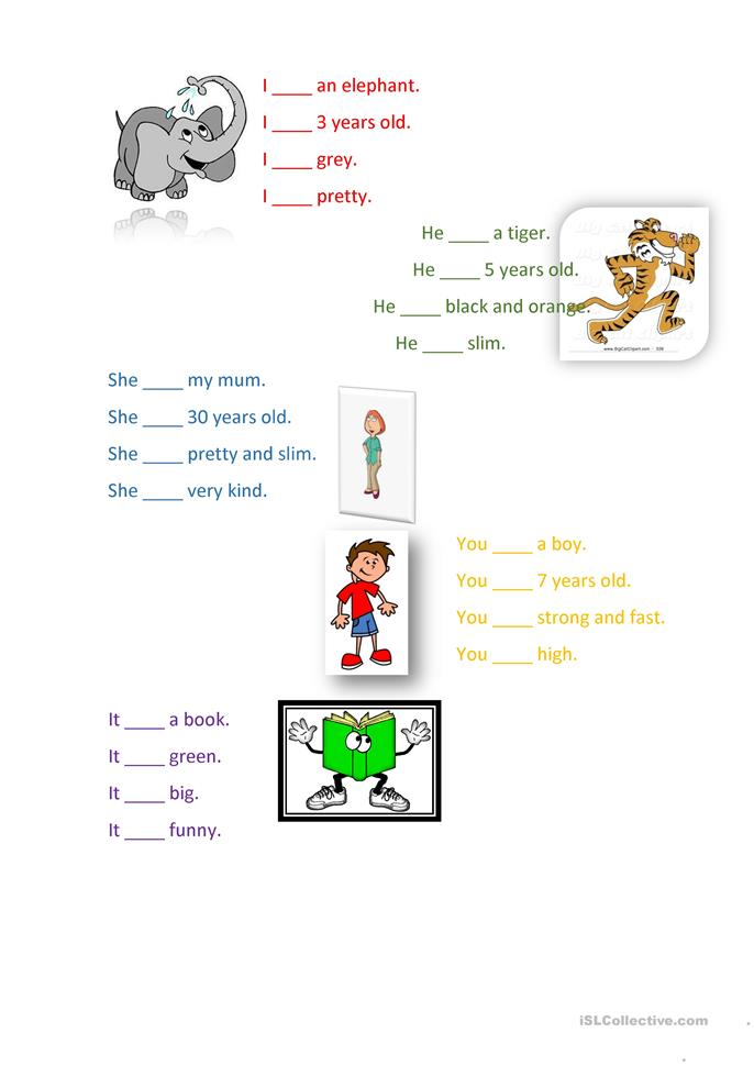 to be, am is are - ESL worksheets