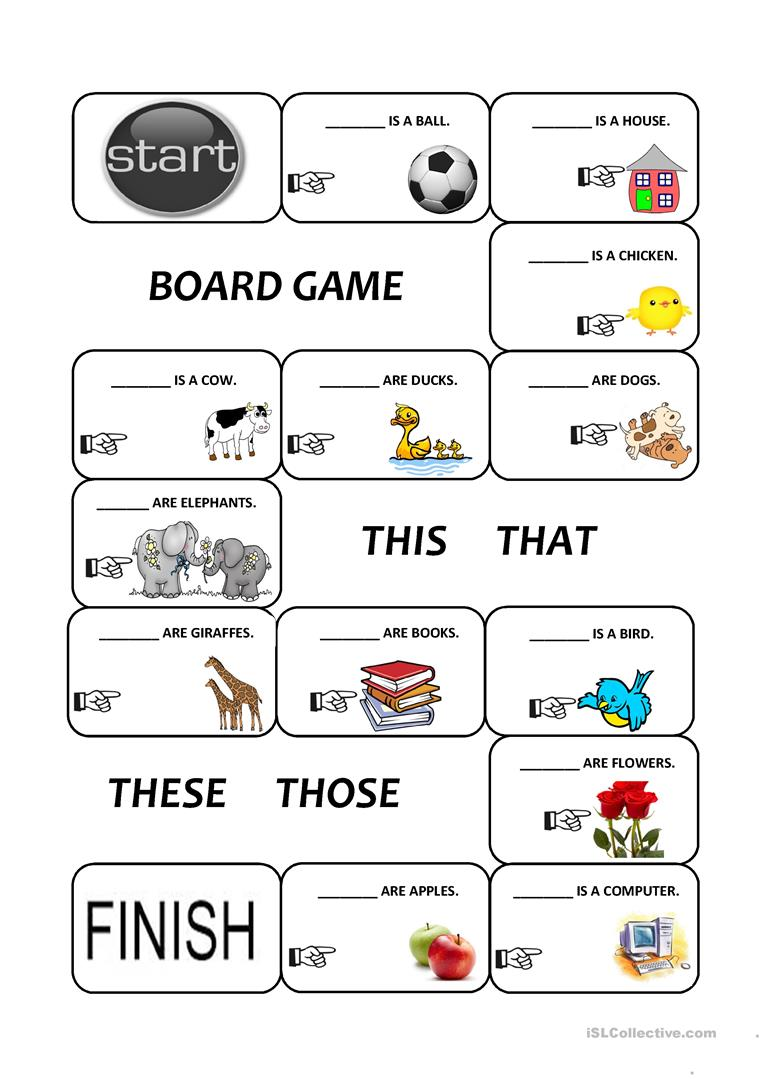 Demonstratives (this, that, these and those) - English ESL