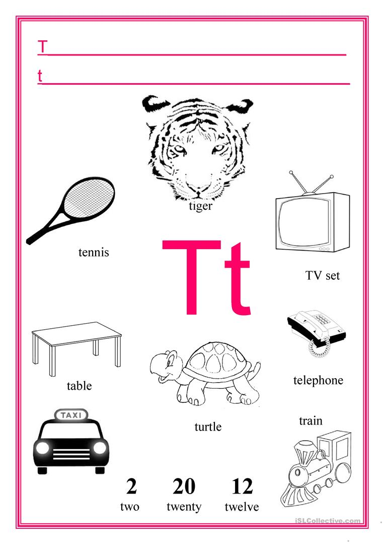 - Letter T - English ESL Worksheets For Distance Learning And