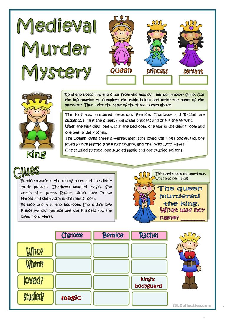 30 Free Esl Mystery Worksheets
