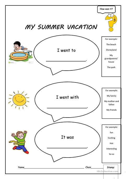 My Summer Vacation worksheet - Free ESL printable worksheets made by ...