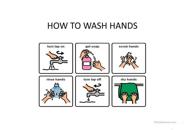Do people wash their hands?