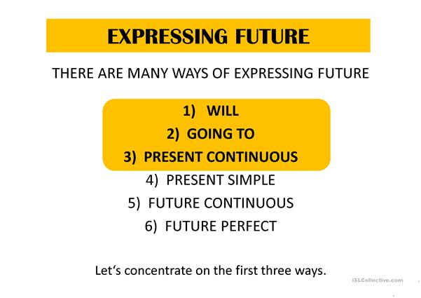 Expressing future