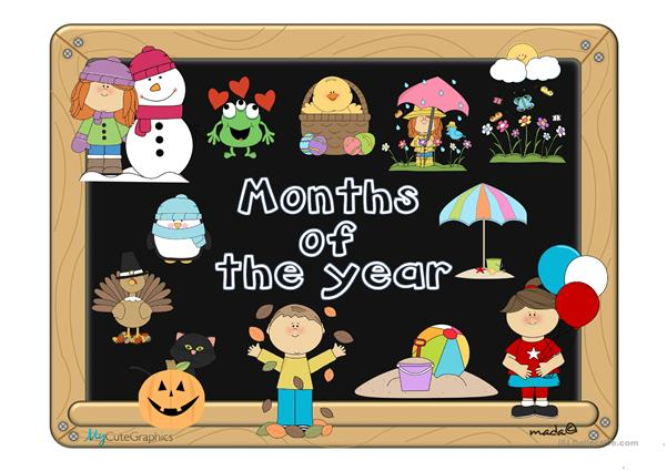 Months of the year - vocabulary with sound