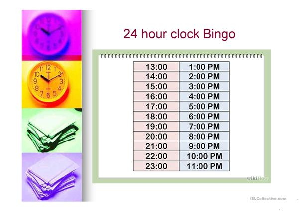 The 24 hour clock (revised copy)