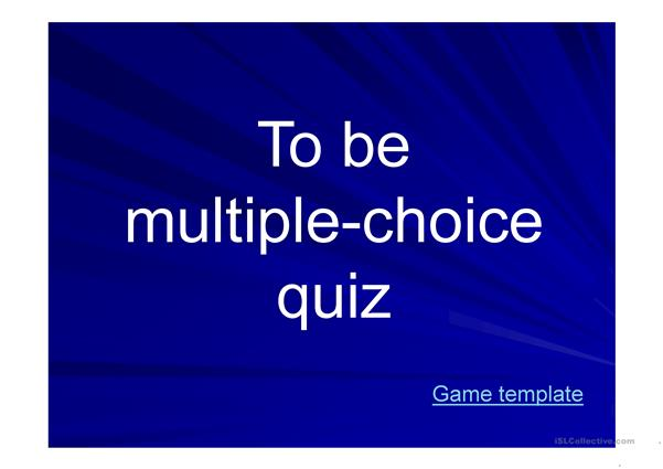 To be multiple choice quiz for kids