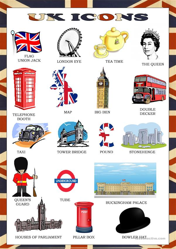 Uk icons - pictionary