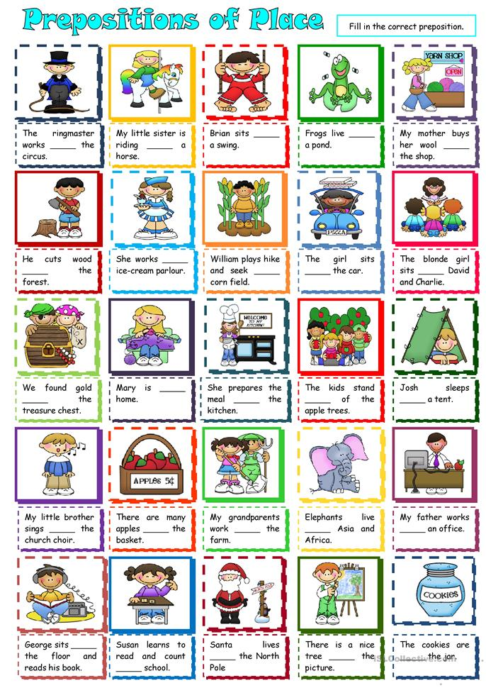 20 FREE ESL Prepositions of place worksheets for upper ...