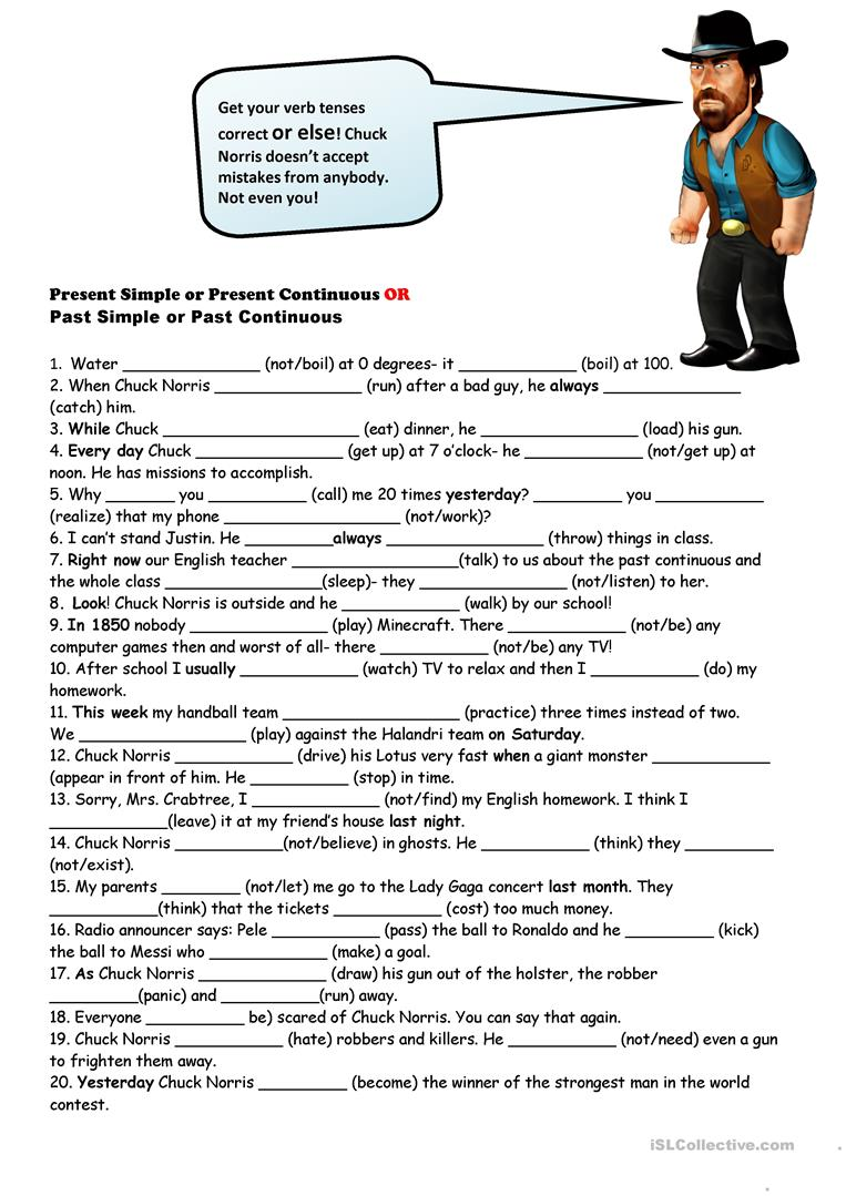 Workbooks past and present tense worksheets : 30 FREE ESL present and past tenses worksheets