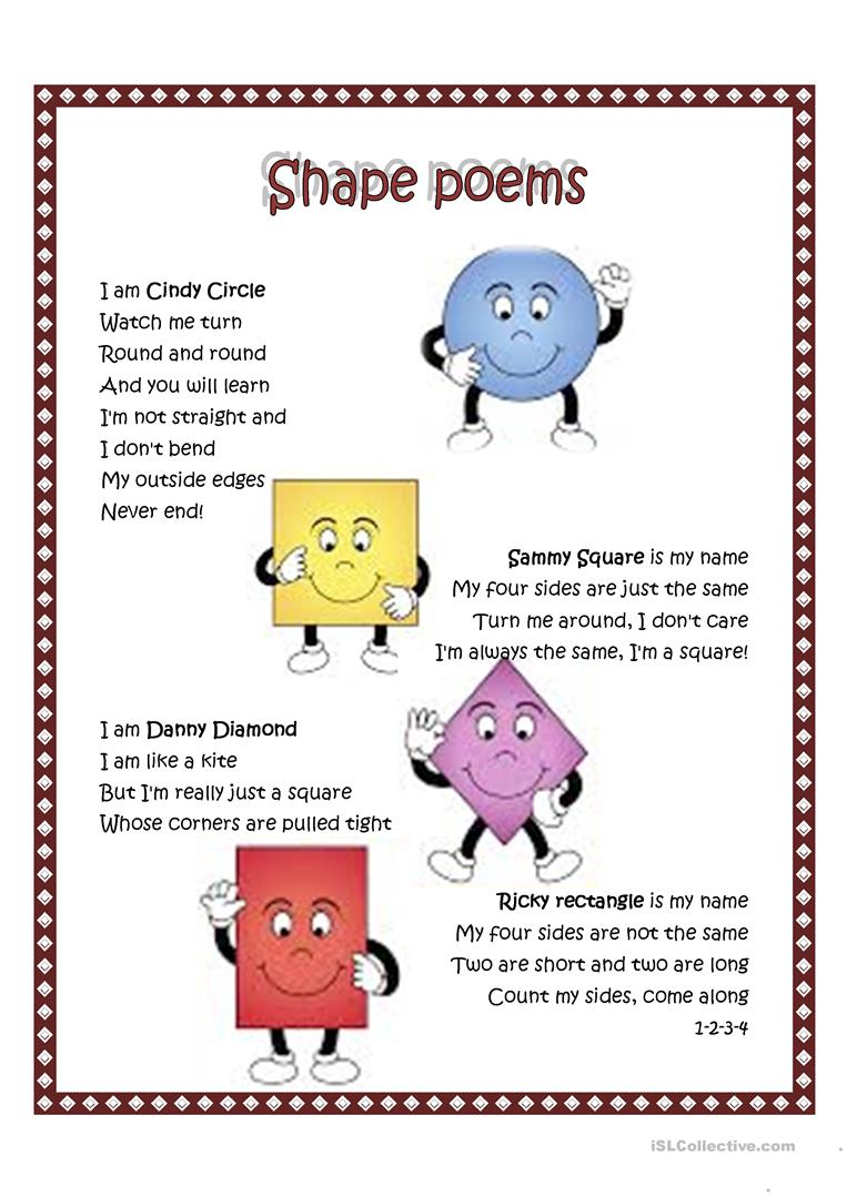 shape poem worksheet free esl printable worksheets made by teachers. Black Bedroom Furniture Sets. Home Design Ideas