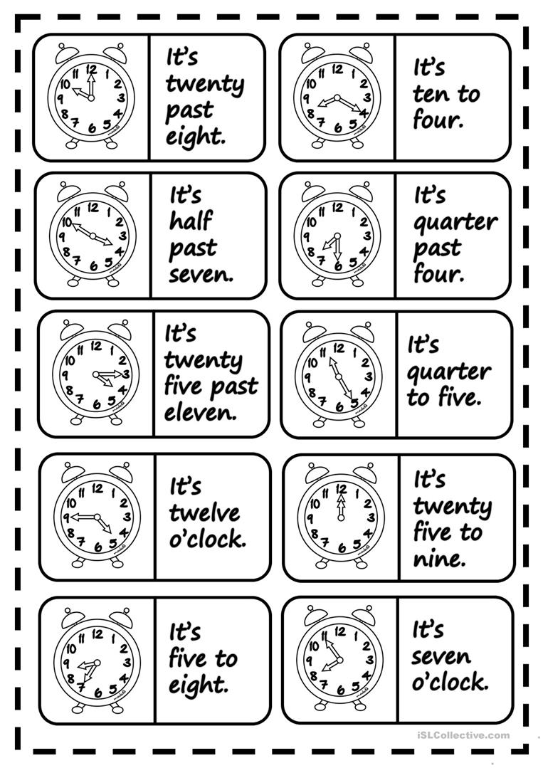 what s the time dominoes worksheet free esl printable worksheets made by teachers. Black Bedroom Furniture Sets. Home Design Ideas