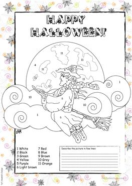 20 FREE ESL Coloring Page Worksheets