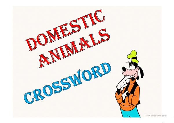 animals, crossword
