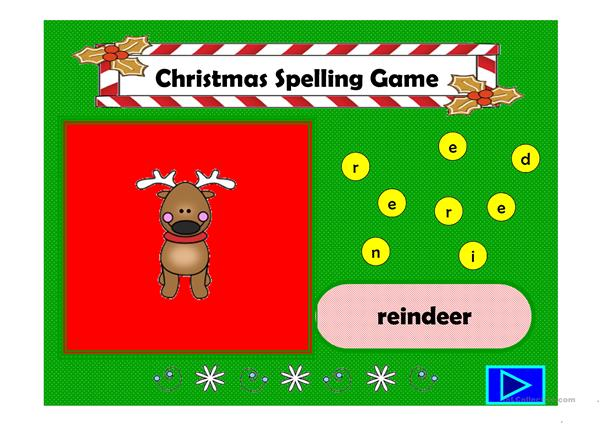 Christmas Spelling Game
